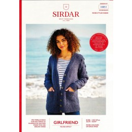 S10051 Ladies Cardigan with Bobble Sleeves in Sirdar Girlfriend