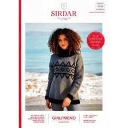 S10058 Ladies Geometric Fair Isle Sweater in Sirdar Girlfriend