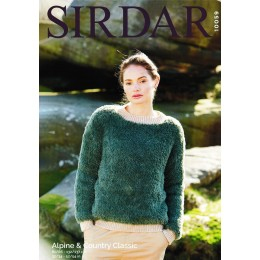 S10059 Ladies Round Neck Sweater in Sirdar Alpine Chunky and Country Classic DK