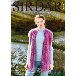 S10061 Ladies Gilet in Sirdar Alpine Chunky and Country Classic DK