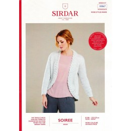 S10067 Ladies Cable Edge Jacket in Sirdar Soiree