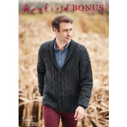 S10079 Men's Cardigan in Hayfield Bonus Aran