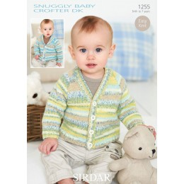 S1255 Babies Cardigans & Jackets in Snuggly Baby Crofter DK