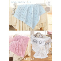 S1299 Babies Shawls & Blankets in Snuggly DK