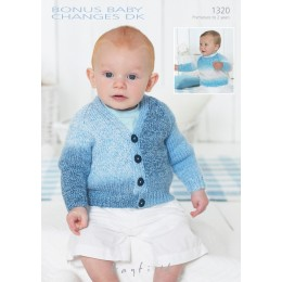 S1320 Babies Cardigans & Jackets in Bonus Baby Changes DK