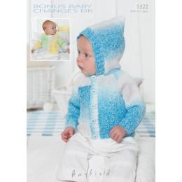 S1322 Babies Cardigans & Jackets in Bonus Baby Changes DK