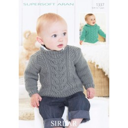S1337 Babies Sweaters in Supersoft Aran