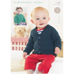 S1339 Babies Cardigans & Jackets in Supersoft Aran