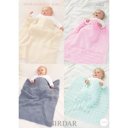 S1362 Babies Shawls & Blankets in Snuggly DK