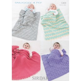 S1369 Babies Shawls & Blankets in Snuggly 4 Ply