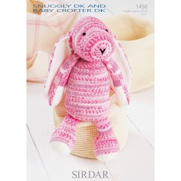 S1456 Bunny Toy in Sirdar Snuggly DK