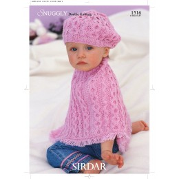 S1516 Beret and Cape for Little Ones in Sirdar Snuggly DK