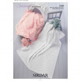 S1600 Blanket and Shawl for Little Ones in Sirdar Snuggly DK