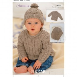 S1648 Blanket, Hat and Jumper for Little Ones in Sirdar Snuggly DK