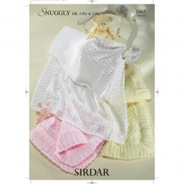 S1665 Shawls for Little Ones in Sirdar Snuggly 3ply, 4ply and DK