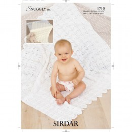 S1710 Blanket and Shawl for Little Ones in Sirdar Snuggly DK