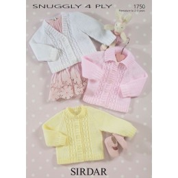 S1750 Cardigans for Little Ones in Sirdar Snuggly 4ply