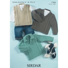 S1769 Jumpers for Little Ones in Sirdar Snuggly 4ply
