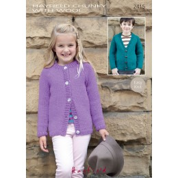 S2415 Cardigans for Children in Hayfield Chunky with Wool