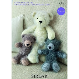 S2457 Bear Toys in Sirdar Ophelia and Hayfield Bonus DK