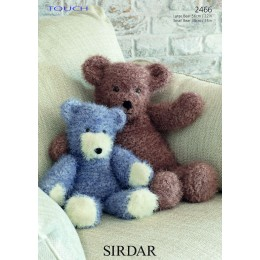 S2466 Bear Toys in Sirdar Touch
