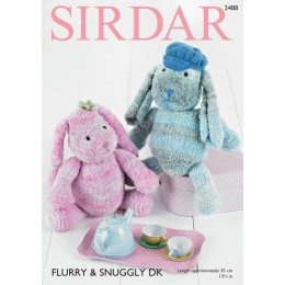 S2488 Toy Bunny in Sirdar Flurry Super Chunky