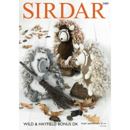 S2489 Hedgehog Soft Toy in Sirdar Wild & Hayfield Bonus DK