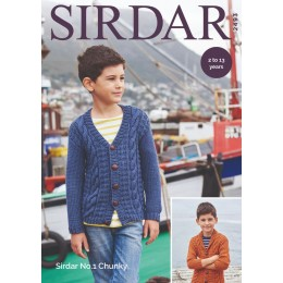S2493 Boy's Cardigans in Sirdar No.1 Chunky