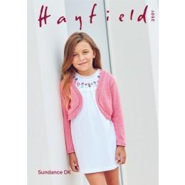 S2501 Girl's Bolero in Hayfield Sundance DK