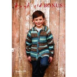 S2512 Children's Collared Jacket in Hayfield Bonus Breeze DK