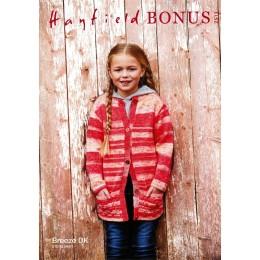 S2513 Girl's Long Jacket in Hayfield Bonus Breeze DK