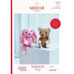 S2521 Cuddly Toy Bear and Bunny in Sirdar Snuggly Bunny