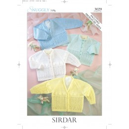 S3029 Cardigans for Little Ones in Sirdar Snuggly 3ply