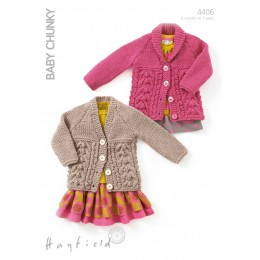 S4406 Cardigans for Little Ones in Hayfield Baby Chunky