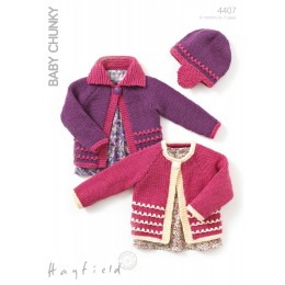 S4407 Cardigans and Hat for Little Ones in Hayfield Baby Chunky