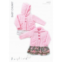 S4409 Cardigans for Little Ones in Hayfield Baby Chunky