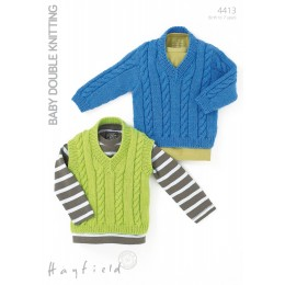 S4413 Sweater and Tank for Little Ones in Hayfield Baby DK