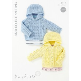 S4417 Jacket and Sweater for Little Ones in Hayfield Baby DK