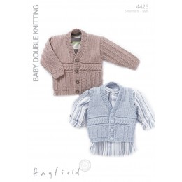 S4426 Cardigan and Waistcoat for Little Ones in Hayfield Baby DK