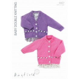 S4427 Cardigans for Little Ones in Hayfield Baby DK