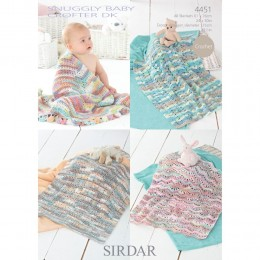 S4451 Baby Blankets in Sirdar Snuggly Baby Crofter DK