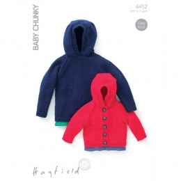 S4452 Jacket and Hoodie for Little Ones in Hayfield Baby Chunky