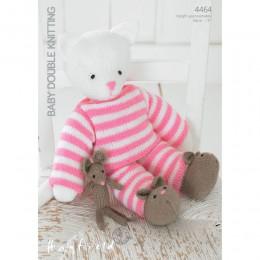 S4464 Bear Toy in Hayfield Baby DK