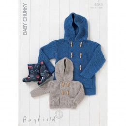 S4486 Duffle Coat for Little Ones in Hayfield Baby Chunky