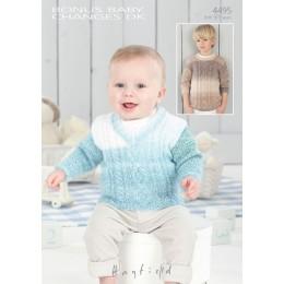 S4495 Sweaters for Little ones in Hayfield Bonus Baby Changes DK