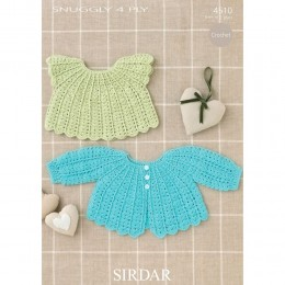 S4510 Crochet Top and Cardigan for Babies in Sirdar Snuggly 4ply