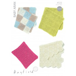 S4533 Crochet Blanket Designs in Hayfield Baby Aran