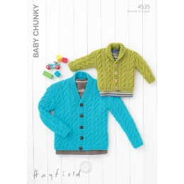 S4535 Cardigans for your Little Ones in Hayfield Baby Chunky