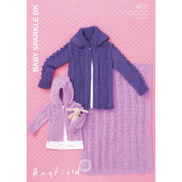 S4537 Jacket and Blanket for Little Ones in Hayfield Baby Sparkle DK