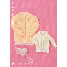 S4538 Cardigan for Little Ones in Hayfield Baby Sparkle DK